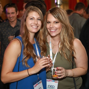 Ashley and Andrea unwinding at SPI 2018 in Anaheim