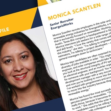 Monica was featured in the Solar Foundation's annual report 2018