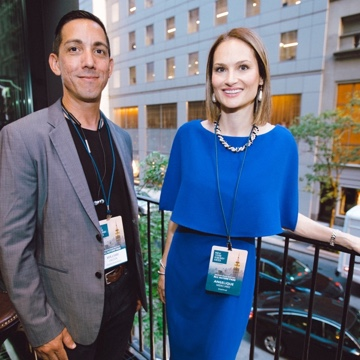 William with Angelique Mercurio during New York Energy Week