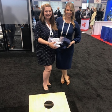Inter-team rivalry at SPI 2018 as Victoria challenges Andrea to cornhole