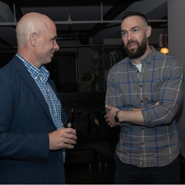 Evan attends his first Renewables UnWind event in NYC
